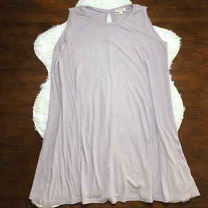 Umgee Tunic Tank Dress Ribbed Lavender